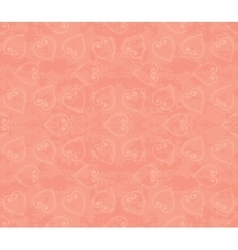 Abstract seamless hand-drawn pattern with hearts vector image
