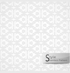 Abstract seamless pattern flower lattice white vector
