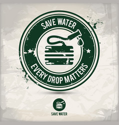 alternative save water stamp vector image
