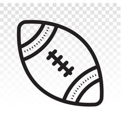 American football ball or gridiron football line vector