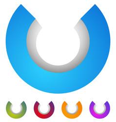 Arc logo 3d circle icon circular element vector