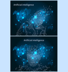 Artificial intelligence network and map vector