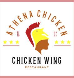 Athena chicken logo vector