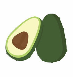 Avocado pieces set vector