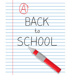 back to school slogan vector image