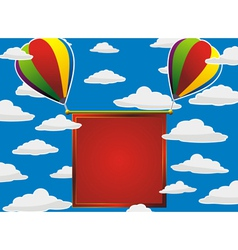 balloons red frame vector image