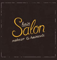 barbershop badge label logo hipster emblem vector image