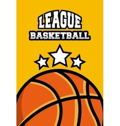 Basketball league emblem classic vector