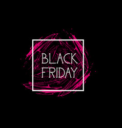 black friday flyer special offer banner holiday vector image