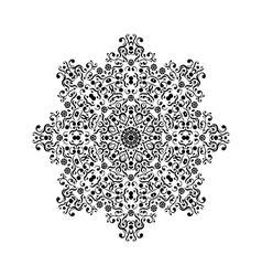 black round lace ornament vector image