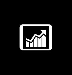 business progress icon flat design vector image