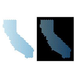 California map hex tile mosaic vector