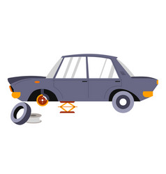 car services and repairing vehicles transport vector image