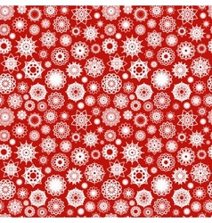 Christmas Ornamental Snowflakes Pattern vector image
