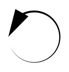 Circular circle arrow left radial arrow icon vector