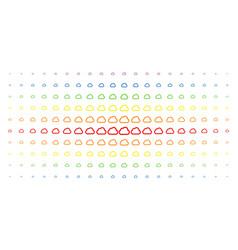 cloud spectrum halftone grid vector image