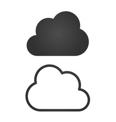 clouds icons black flat design and linear vector image