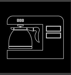 Coffeemaker coffee machine white color path icon vector
