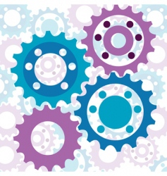 Cog background vector