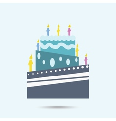 Color cake vector