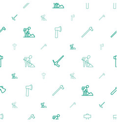 construct icons pattern seamless white background vector image