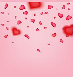 Creative of heart confetti vector