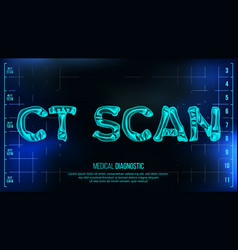 Ct scan banner medical background vector
