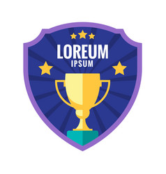 cup winner logo emblem vector image