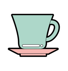 Cute cup graphic design vector
