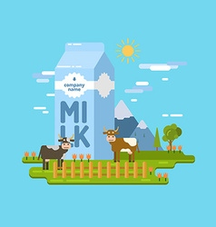 Dairy product Farm for advertising design and we vector