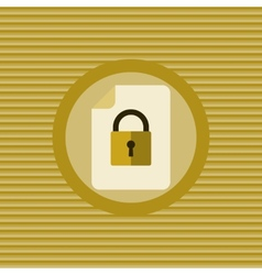 Document protection flat icon vector image