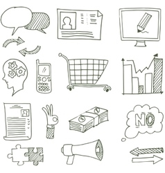 Doodle of hand draw business art vector image vector image