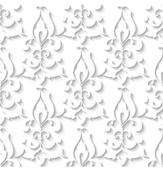 Elegant paper retro floral seamless pattern Hand vector image