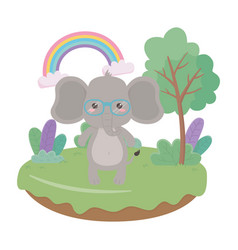 elephant cartoon design vector image