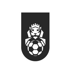 football club logo mockup black and white sports vector image