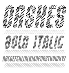 Funky condensed capital english alphabet letters vector