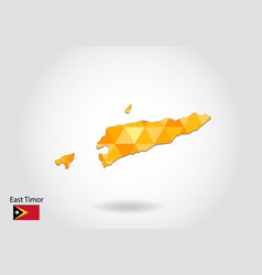 geometric polygonal style map of east timor low vector image
