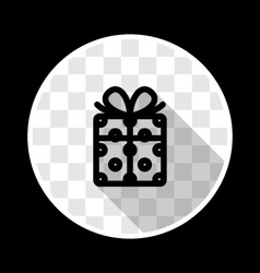 Gift box with ribbon vector image