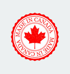 grunge rubber stamp canada vector image