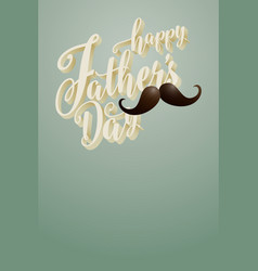 happy fathers day blank poster vector image