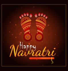 Happy navratri element vector
