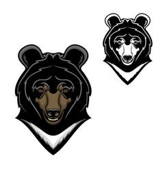 Himalayan bear head mascot cartoon vector