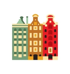 Holandaise living buildings simplified icon vector