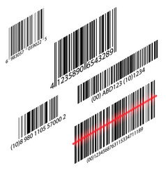 isometric barcode with laser scanning vector image