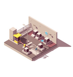 isometric secure car parking vector image
