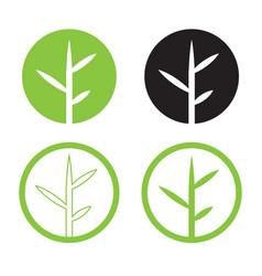 Leave logo design set nature logo in circle vector
