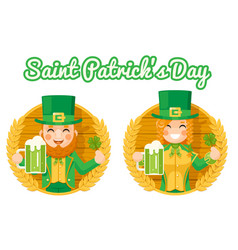 leprechaun cute gnome girl saint patrick day vector image