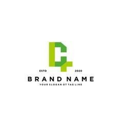 Letter c cross plus hospital medical logo design vector
