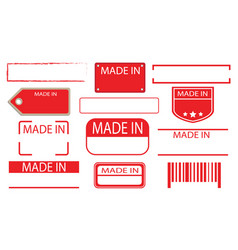 made in label set 02 vector image