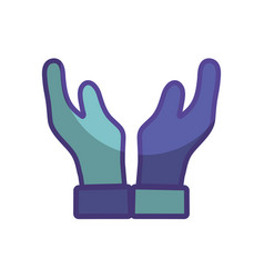man hands up icon vector image